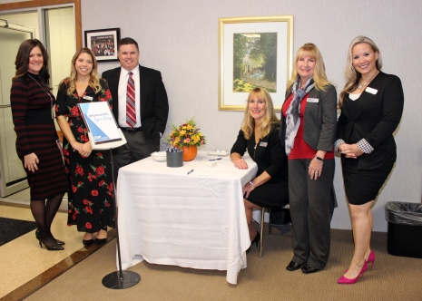 Welcome to CHP! Client services professionals greeted guests at the Open House. From L-R: Tanya Scurry, Ashley Salvador, Mike Hmurcik, Julia Noonan, Mary Jo Blomberg, and Lindsay Pease.